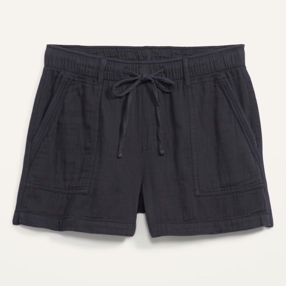 Old Navy Pants - OLD NAVY High-Waisted Textured Twill Shorts